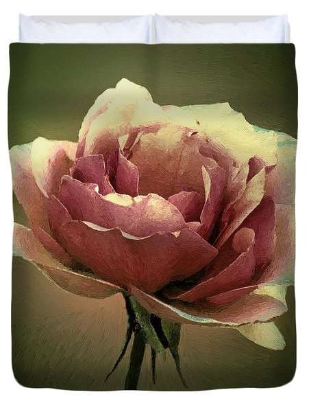 Skyblue Pink Duvet Cover by RC deWinter