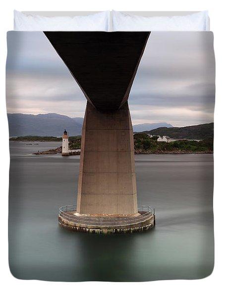Skye Bridge At Sunset Duvet Cover