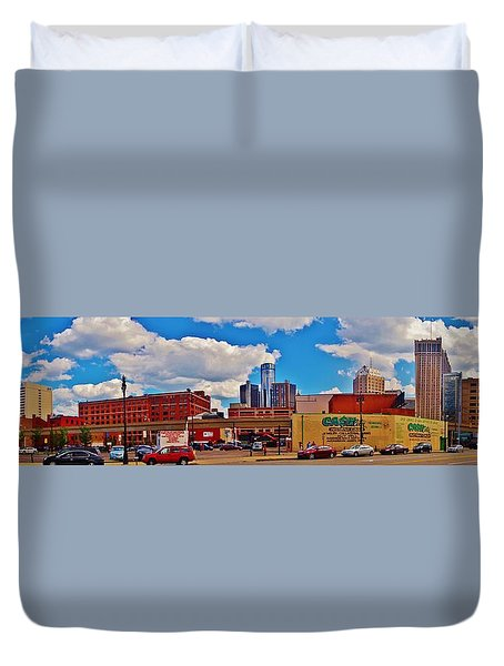 Skyline From The Inside... Detroit Duvet Cover
