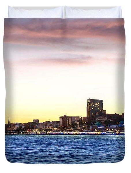 Skyline Hamburg Duvet Cover by Daniel Heine