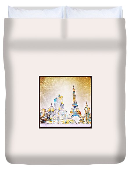Skyline Of The World Duvet Cover by Natasha Marco