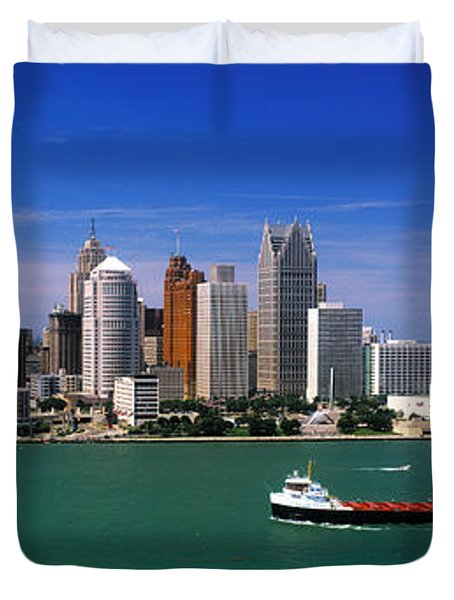 Skylines At The Waterfront, River Duvet Cover