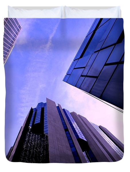 Duvet Cover featuring the photograph Skyscraper Angles by Matt Harang