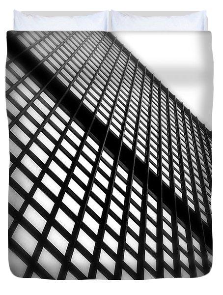 Skyscraper Facade Duvet Cover by Valentino Visentini