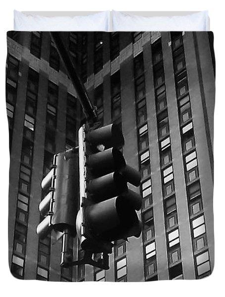 Skyscraper Framed Traffic Light Duvet Cover