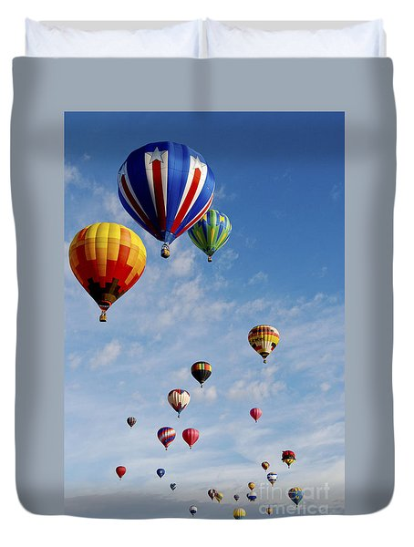 Duvet Cover featuring the photograph Skyward Bound by Gina Savage