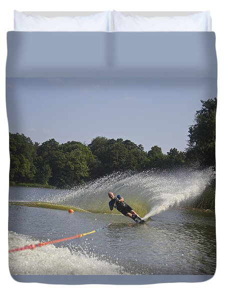 Slalom Waterskiing Duvet Cover