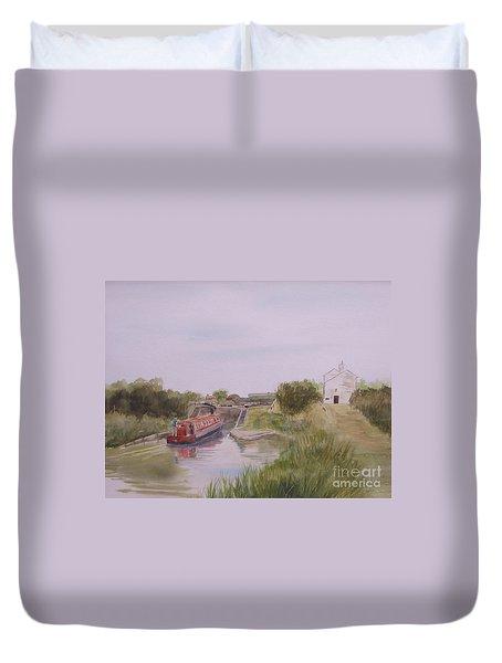 Slapton Lock Duvet Cover by Martin Howard