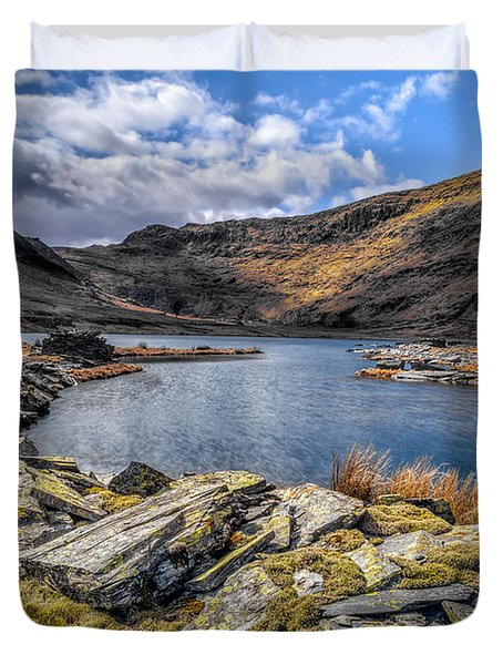 Slate Valley Duvet Cover by Adrian Evans