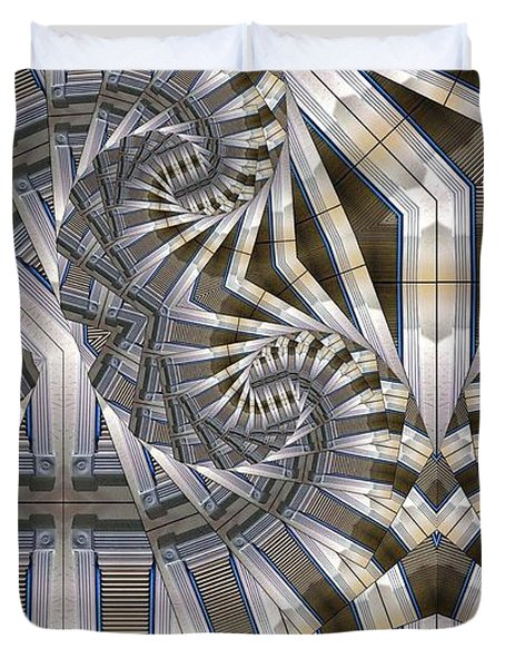 Slatted Spirals Duvet Cover by Ron Bissett