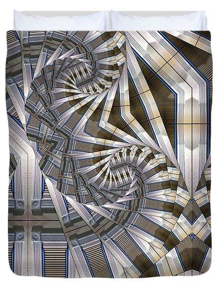 Slatted Spirals Duvet Cover