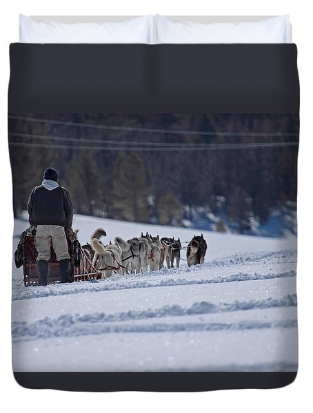 Sled Dog  Duvet Cover by Duncan Selby