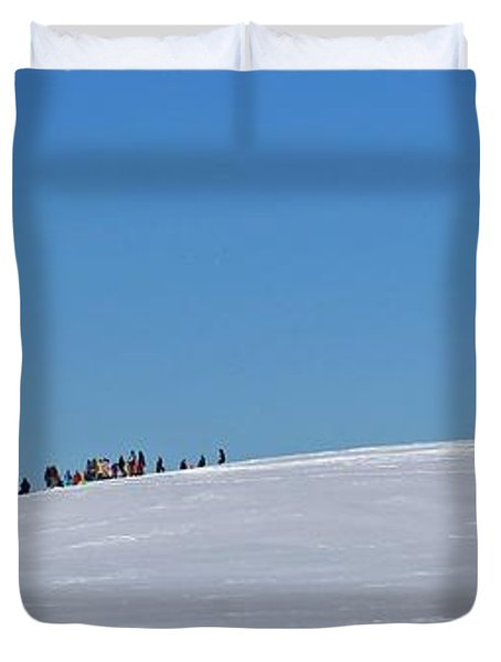 Dexter Drumlin Hill Sledding Duvet Cover