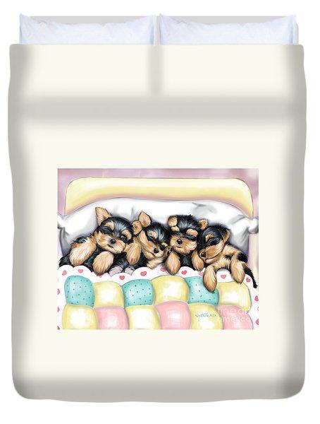 Sleeping Babies Duvet Cover by Catia Cho