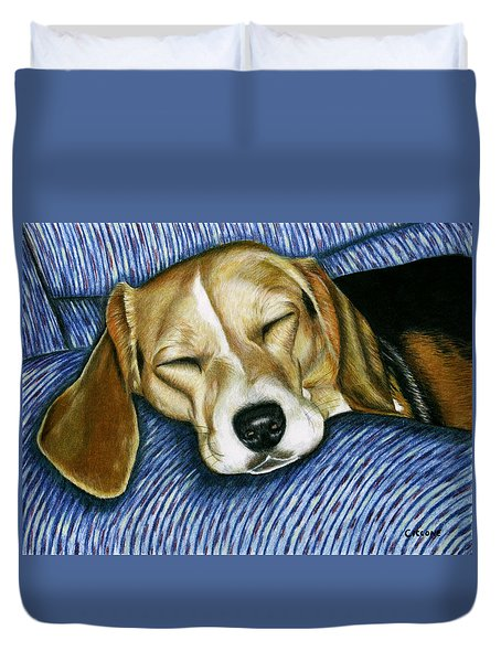 Sleeping Beagle Duvet Cover