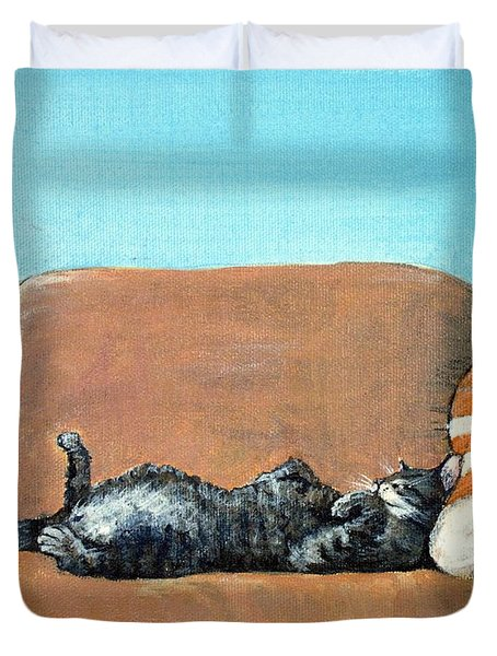 Sleeping Cat Duvet Cover
