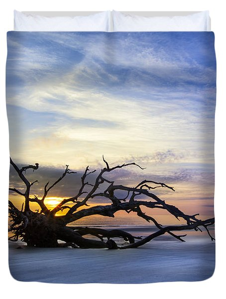 Sleeping Giant Duvet Cover by Debra and Dave Vanderlaan