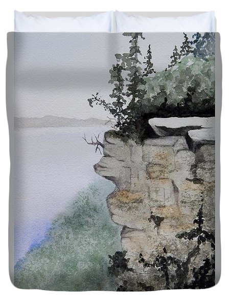 Sleeping Giant Overlook Duvet Cover