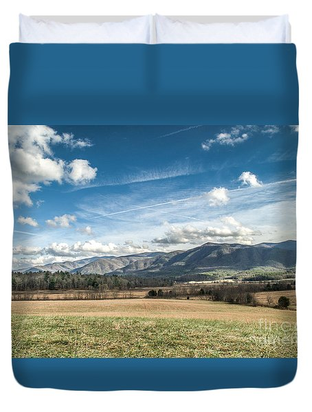 Duvet Cover featuring the photograph Sleeping Giants In Cades Cove by Debbie Green