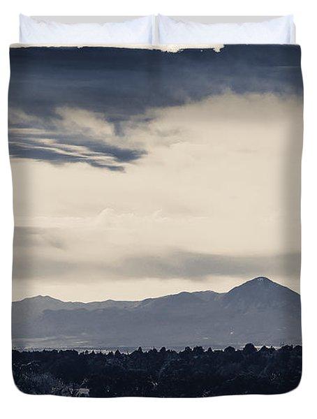 Sleeping Ute Mountain Duvet Cover by Janice Rae Pariza