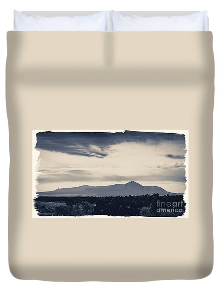Sleeping Ute Mountain Duvet Cover
