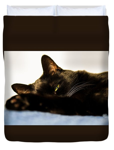Sleeping With One Eye Open Duvet Cover by Bob Orsillo