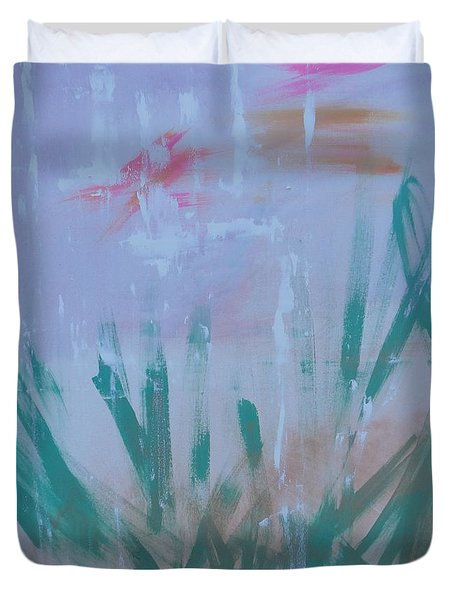 Sleepy Pond Duvet Cover by PainterArtist FIN