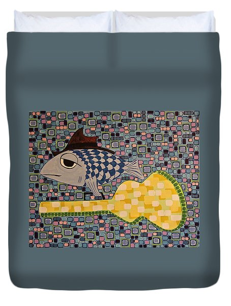 Sleepy Ray Dupree Duvet Cover