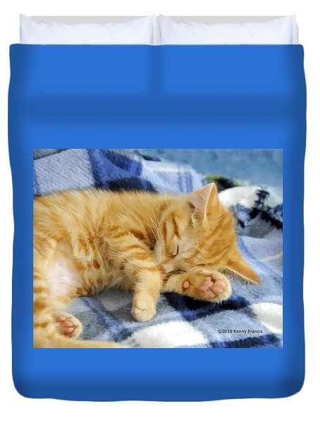Duvet Cover featuring the photograph Sleepy Time by Kenny Francis