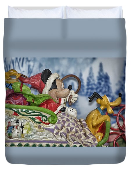 Sleigh Riding Duvet Cover by Thomas Woolworth