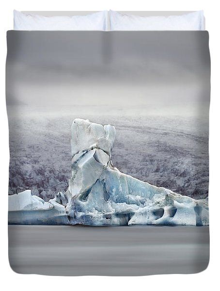 Slice Of Ice Duvet Cover by Evelina Kremsdorf