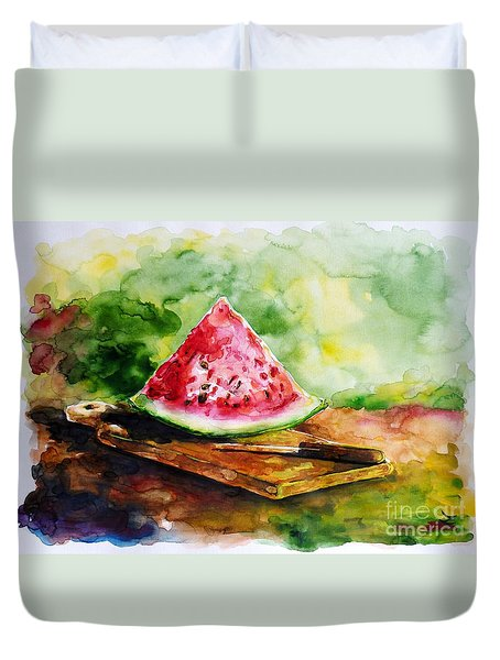 Sliced Watermelon Duvet Cover