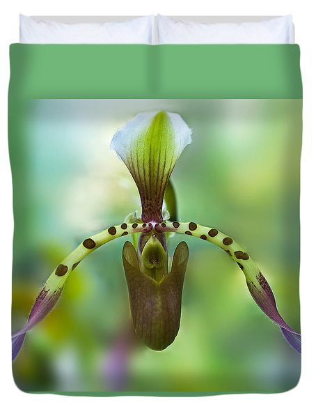 Slipper Orchid Of Selby Gardens Duvet Cover
