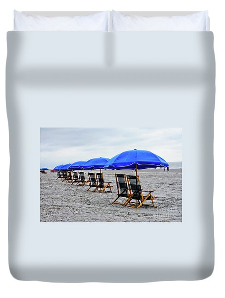 Slow Day At The  Beach Duvet Cover