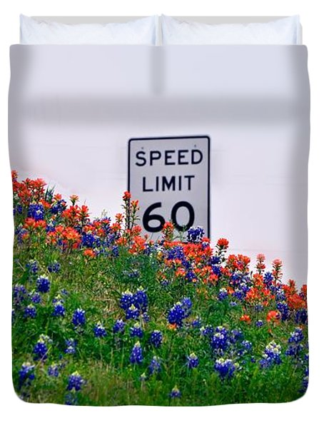 Slow Down And Smell The Bluebonnets Duvet Cover