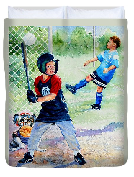 Slugger And Kicker Duvet Cover by Hanne Lore Koehler