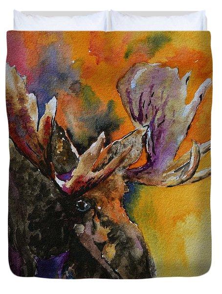 Sly Moose Duvet Cover by Beverley Harper Tinsley