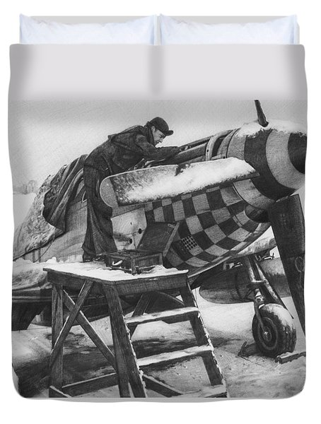 Slybird Winter Duvet Cover by Wade Meyers