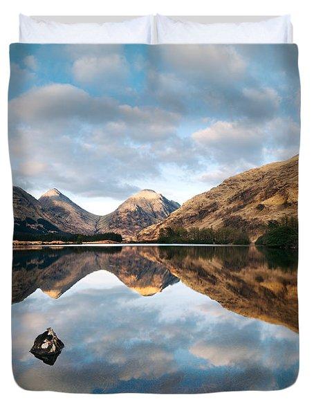 Small Loch In Glencoe Scotland Uk Duvet Cover