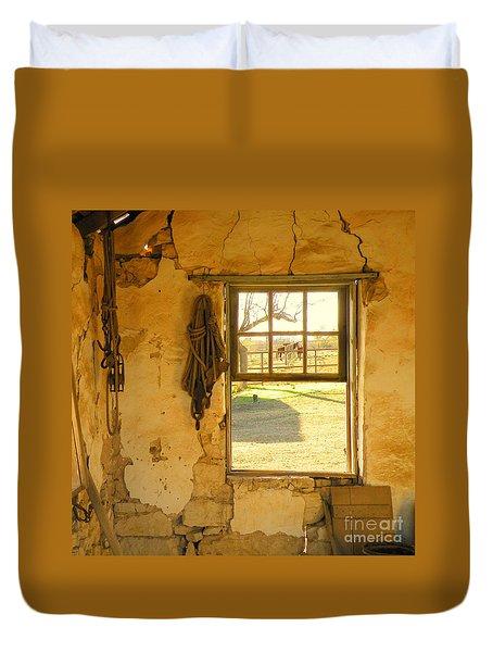 Smell Of Hay Duvet Cover by Joe Jake Pratt