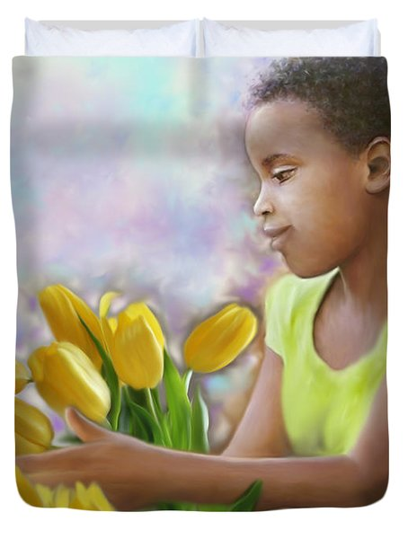 Smile 3 Duvet Cover by Kume Bryant