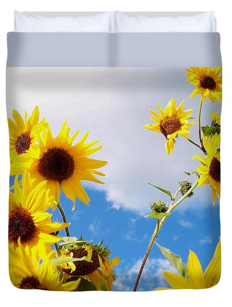 Duvet Cover featuring the photograph Smile Down On Me by Mary Wolf