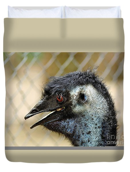 Smiley Face Emu Duvet Cover by Kaye Menner