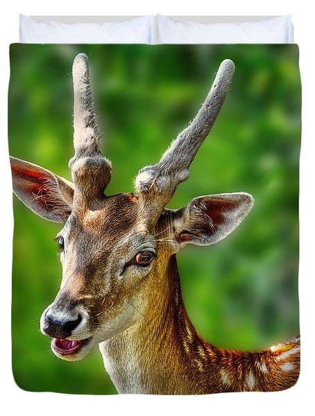 Smiling Deer Duvet Cover