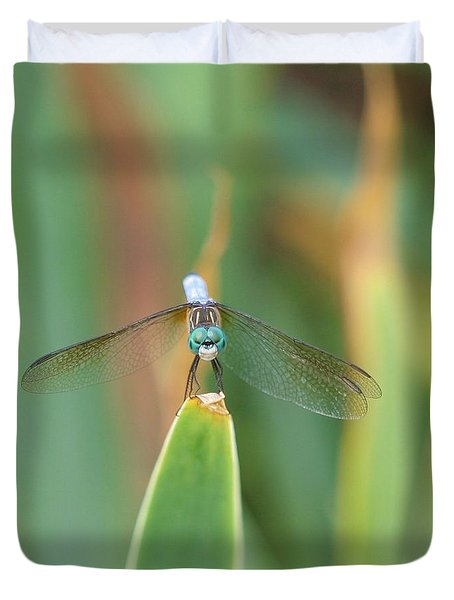 Smiling Dragonfly Duvet Cover