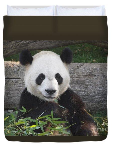 Smiling Giant Panda Duvet Cover