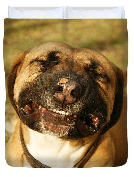 Smiling Duvet Cover by Kristia Adams