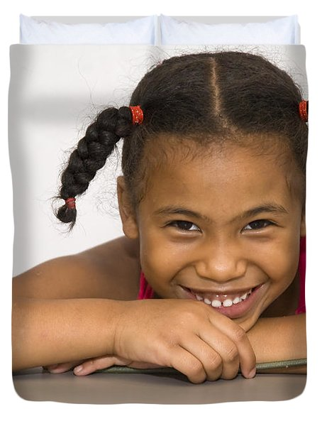 Smiling Pretty Duvet Cover by Carolyn Marshall