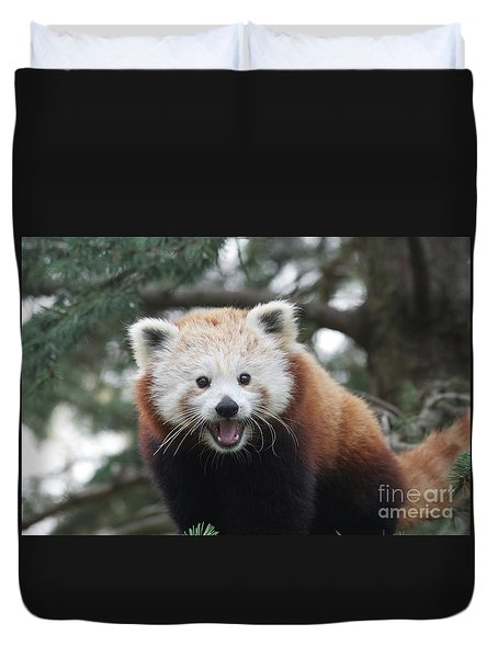 Smiling Red Panda Duvet Cover
