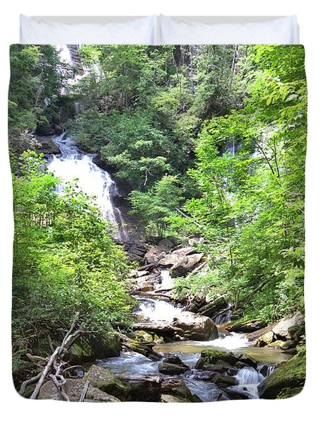 Smith Creek Downstream Of Anna Ruby Falls - 3 Duvet Cover